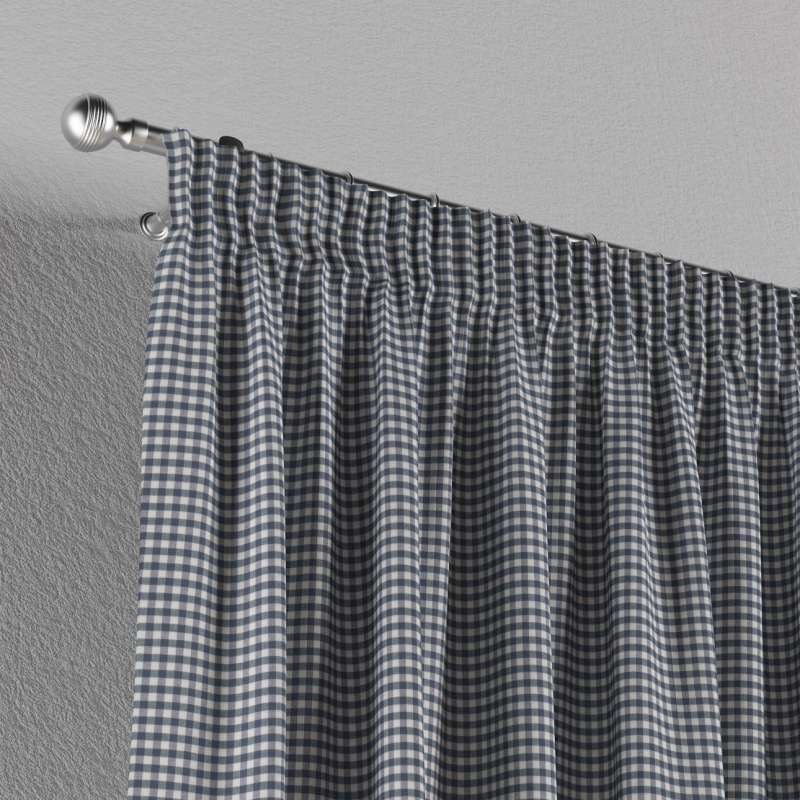 Pencil pleat curtains in collection Quadro, fabric: 136-00