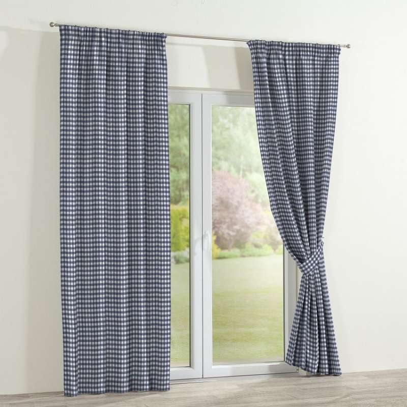 Pencil pleat curtains in collection Quadro, fabric: 136-01