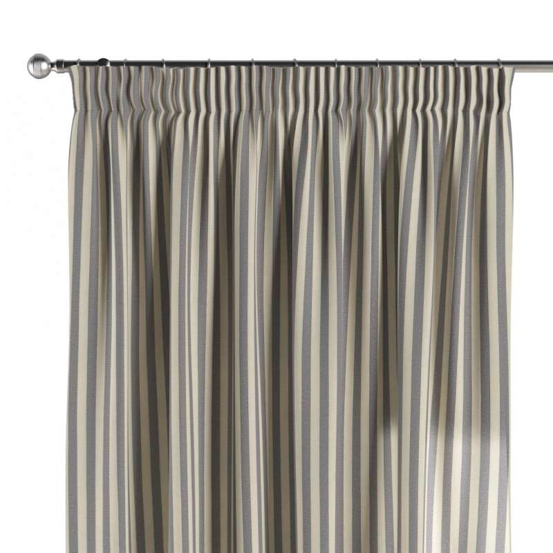 Pencil pleat curtains in collection Quadro, fabric: 136-02