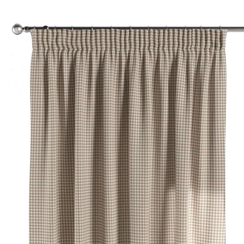Függöny ráncolóval a kollekcióból Quadro Lakástextil, Dekoranyag: 136-05