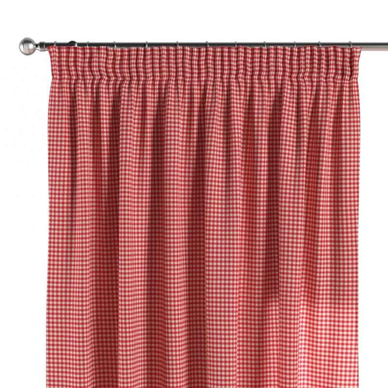 Vorhang mit Kräuselband von der Kollektion Quadro, Stoff: 136-15