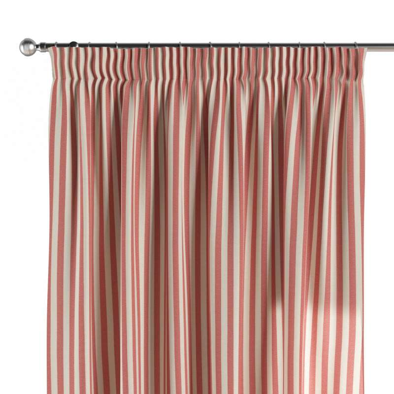Pencil pleat curtains in collection Quadro, fabric: 136-17