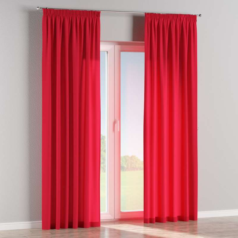 Pencil pleat curtains in collection Quadro, fabric: 136-19