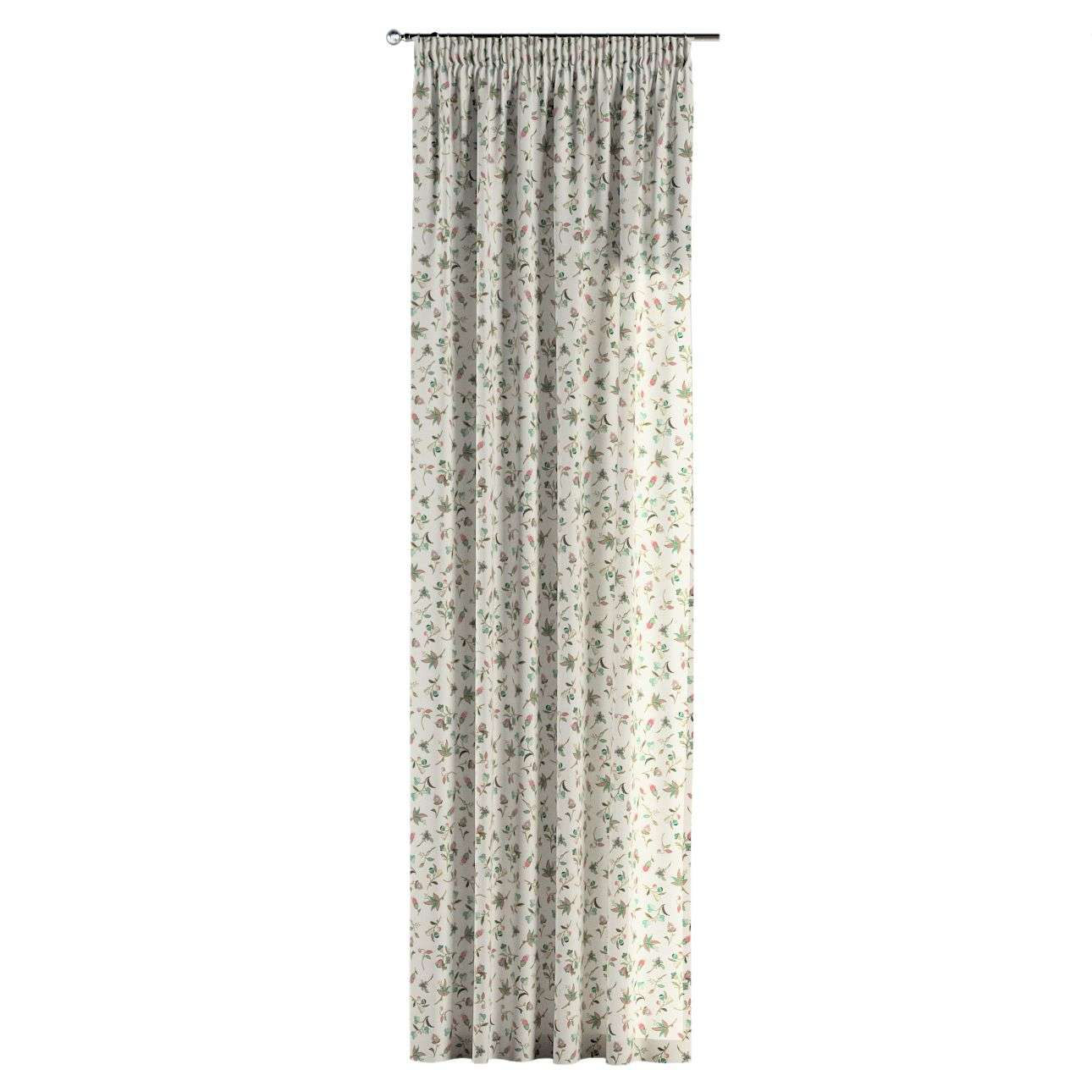 Pencil pleat curtains in collection Londres, fabric: 122-02