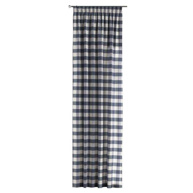 Vorhang mit Kräuselband von der Kollektion Quadro, Stoff: 136-03