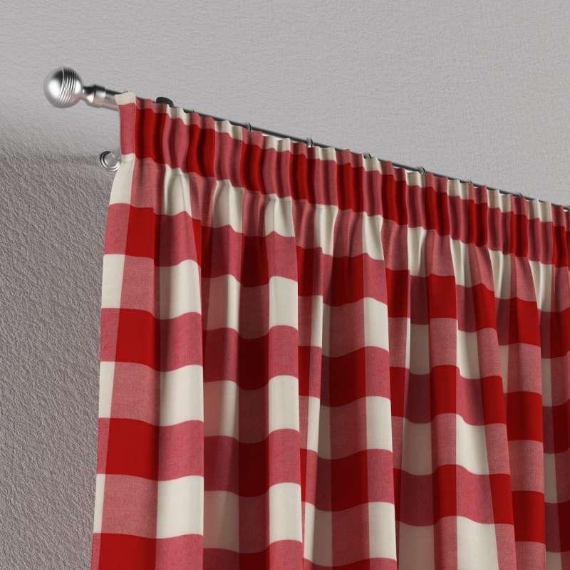 Vorhang mit Kräuselband von der Kollektion Quadro, Stoff: 136-18