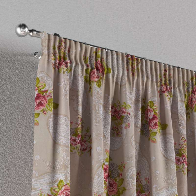 Záves na riasiacej páske V kolekcii Flowers, tkanina: 311-15