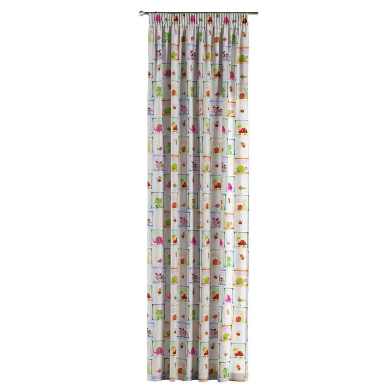 Pencil pleat curtains in collection Little World, fabric: 151-04