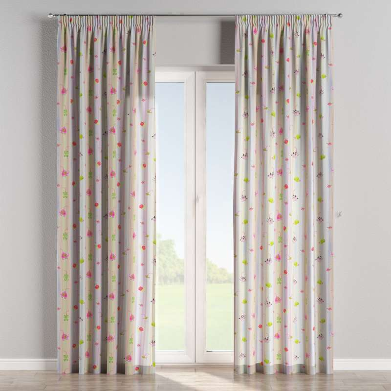 Pencil pleat curtains in collection Little World, fabric: 151-05