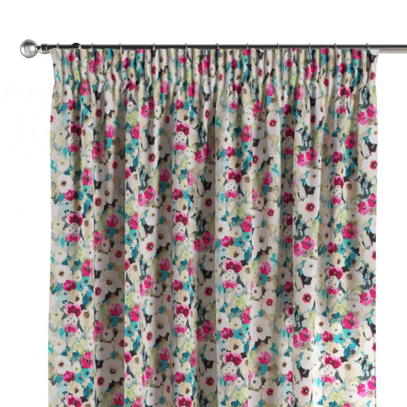 Pencil pleat curtains in collection Monet, fabric: 140-10
