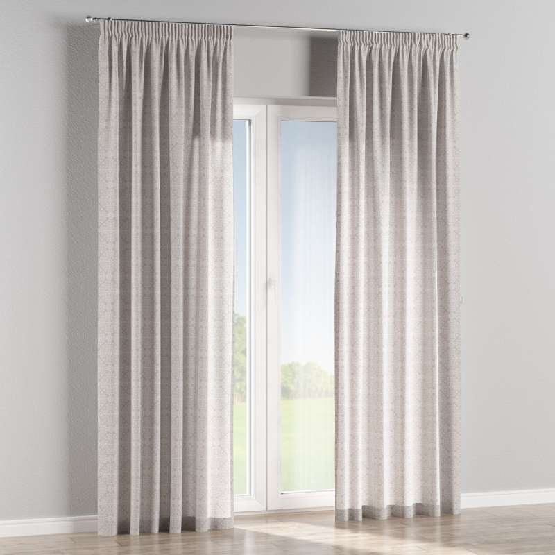 Pencil pleat curtains in collection Flowers, fabric: 140-38