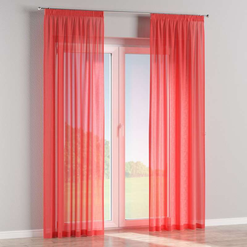 Pencil pleat curtains in collection Romantica, fabric: 128-02