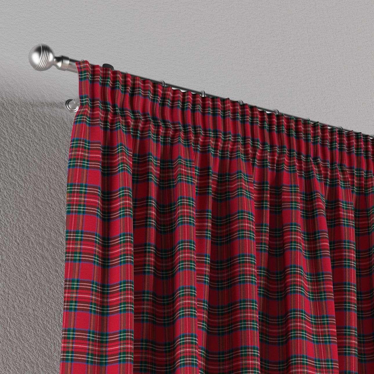 Vorhang mit Kräuselband von der Kollektion Bristol, Stoff: 126-29