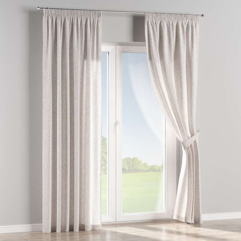 Pencil pleat curtains in collection Venice, fabric: 140-50