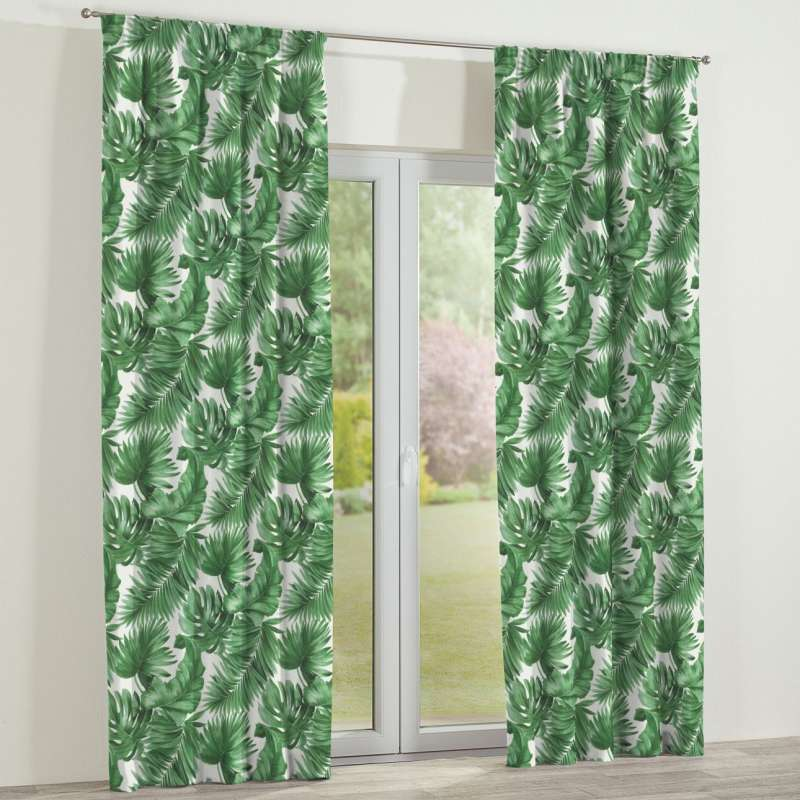 Pencil pleat curtains in collection Tropical Island, fabric: 141-71