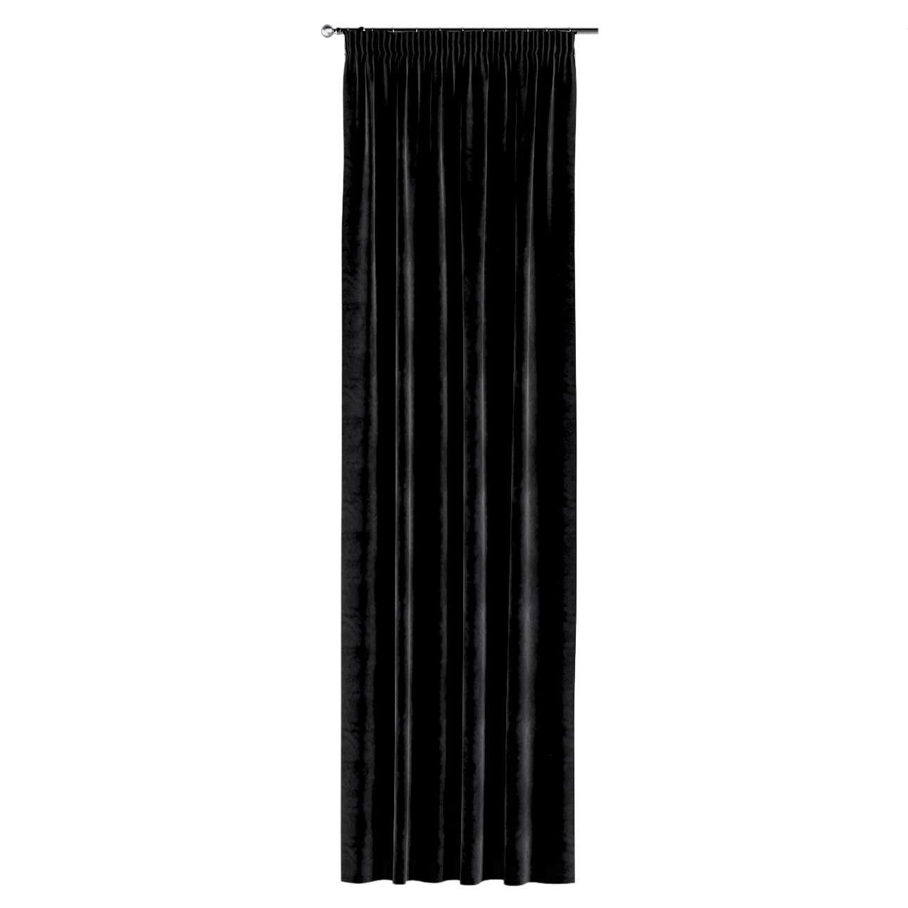 Záves na riasiacej páske V kolekcii Velvet, tkanina: 704-17