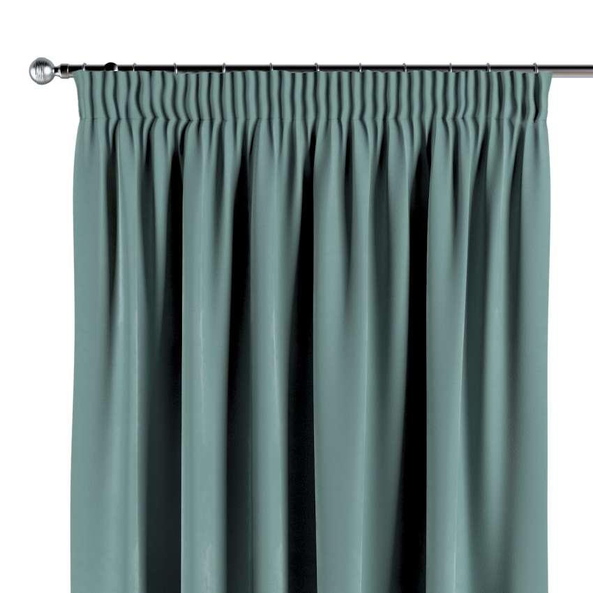 Füles függöny, sötétzöld, 704 13, 130 × 260 cm Dekoria