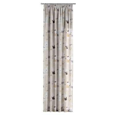 Gardin med rynkband 1 längd i kollektionen Adventure, Tyg: 141-85