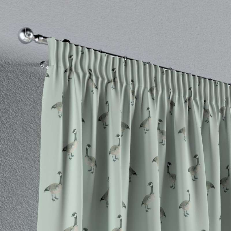 Pencil pleat curtains in collection Flowers, fabric: 141-79
