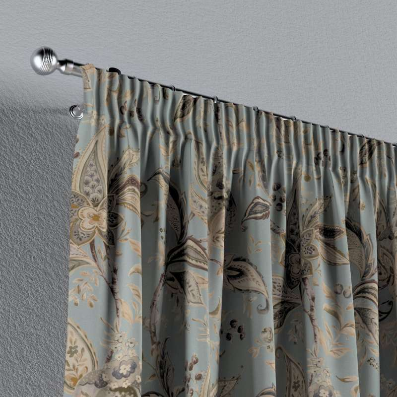 Pencil pleat curtains in collection Gardenia, fabric: 142-18