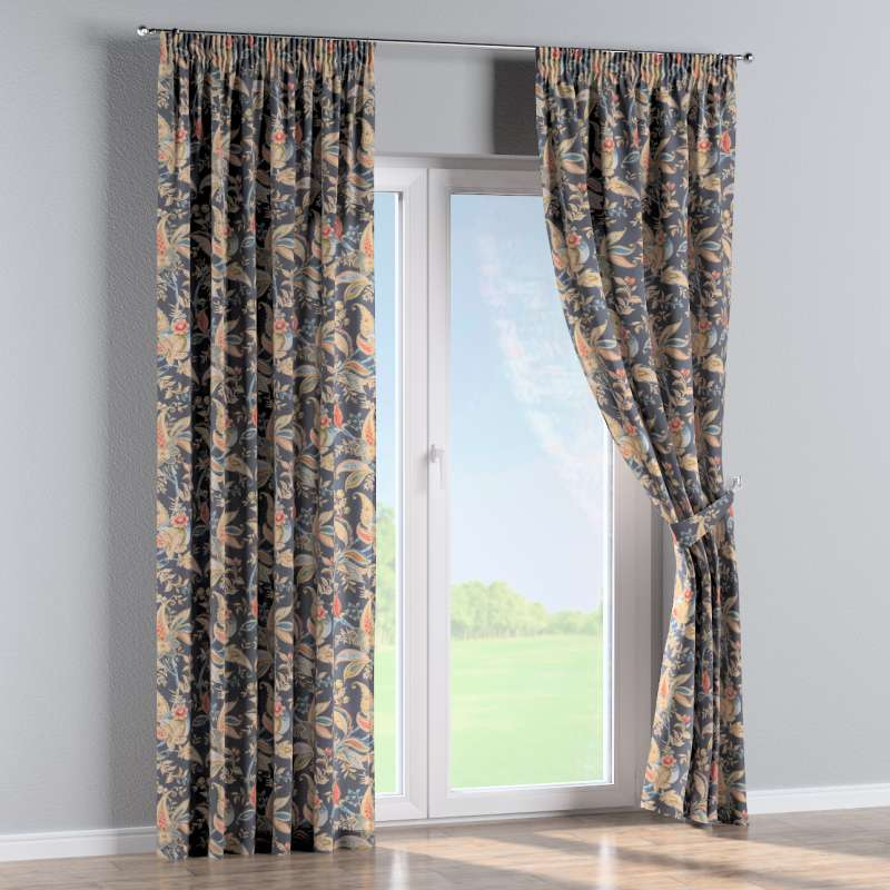 Pencil pleat curtains in collection Gardenia, fabric: 142-19
