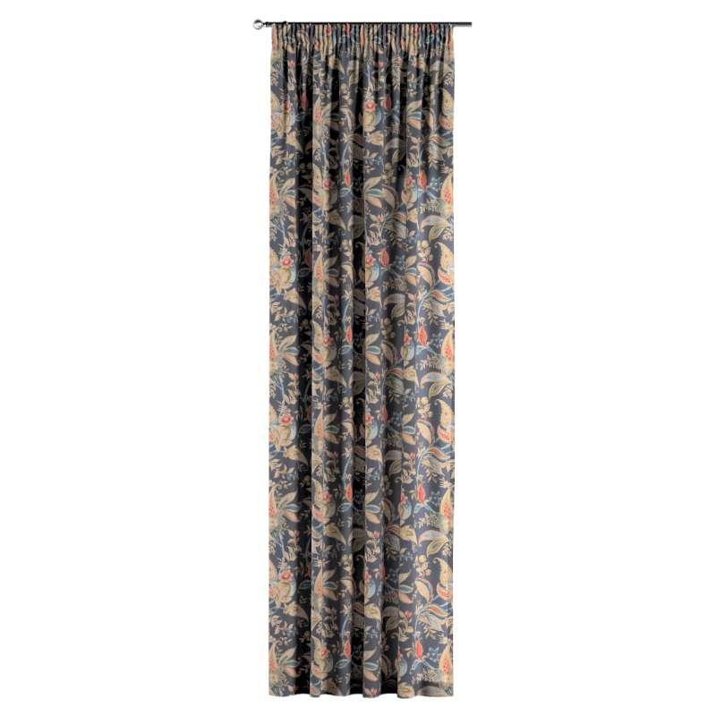 Vorhang mit Kräuselband von der Kollektion Gardenia, Stoff: 142-19