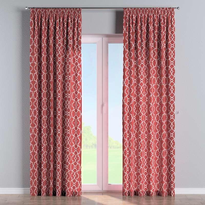 Vorhang mit Kräuselband von der Kollektion Gardenia, Stoff: 142-21