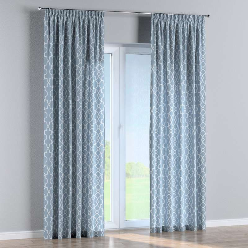 Pencil pleat curtains in collection Gardenia, fabric: 142-22
