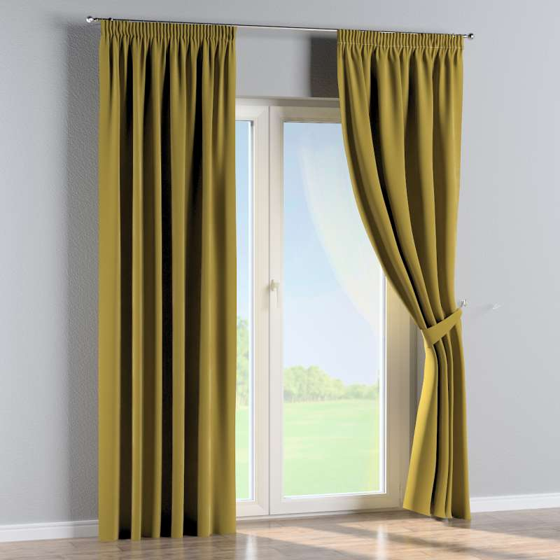 Pencil pleat curtains in collection Velvet, fabric: 704-27