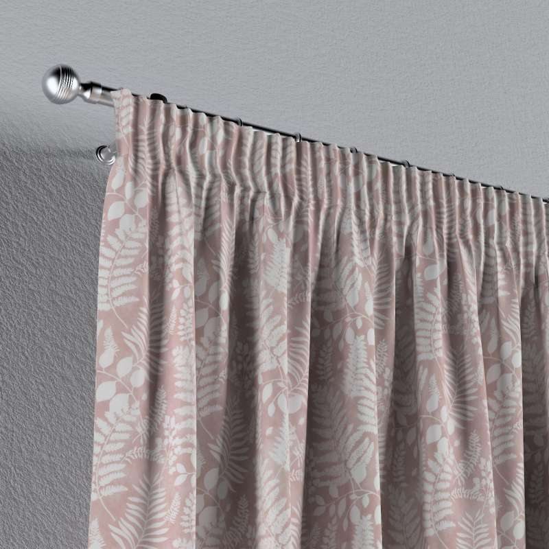 Pencil pleat curtains in collection Pastel Forest, fabric: 142-48