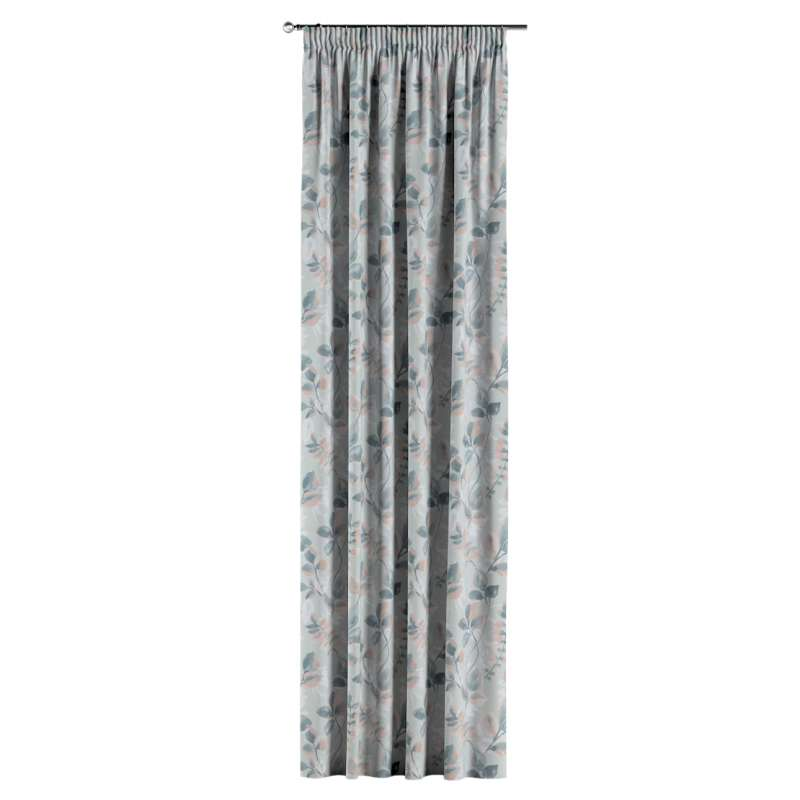 Pencil pleat curtains in collection Pastel Forest, fabric: 142-52