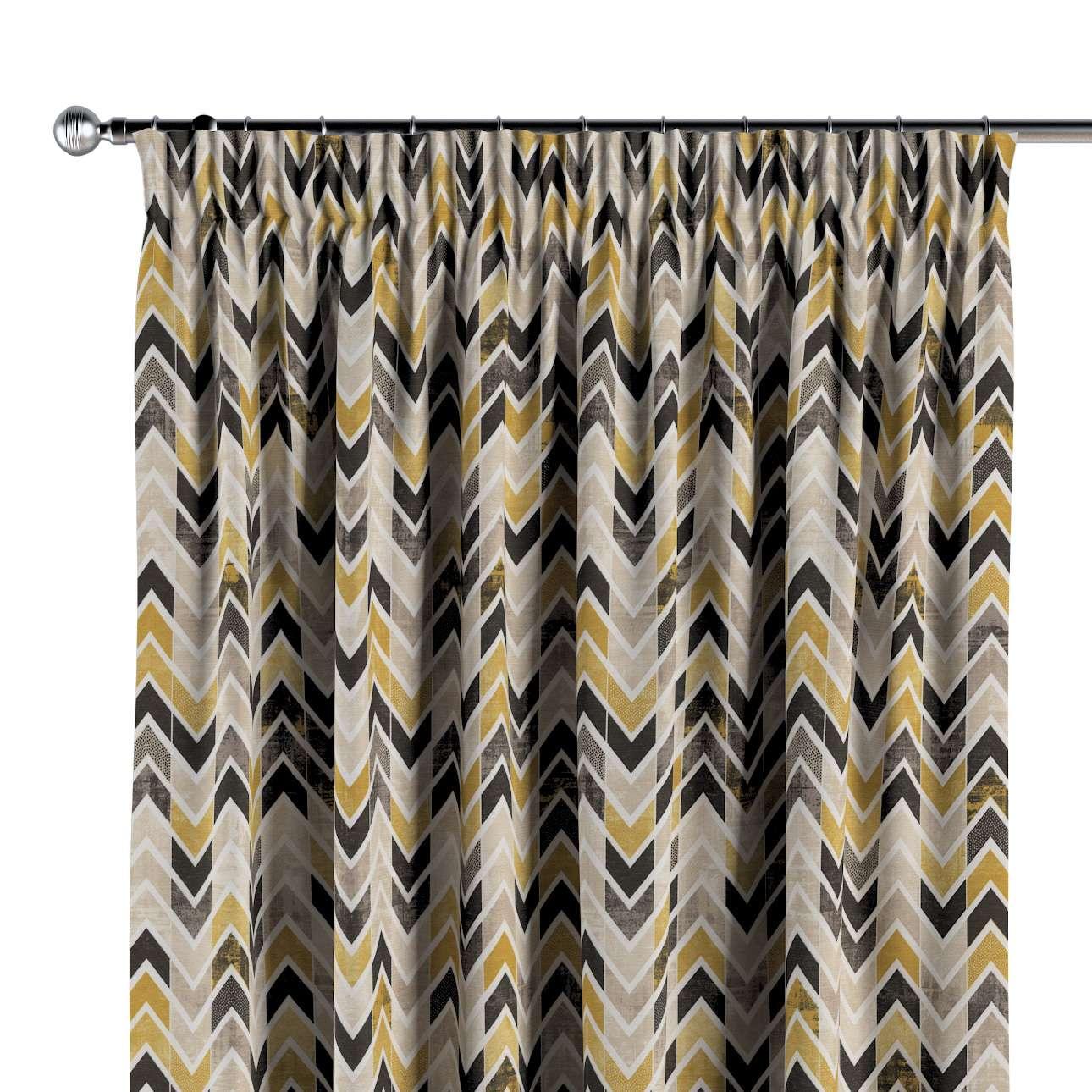 Vorhang mit Kräuselband von der Kollektion Modern, Stoff: 142-79