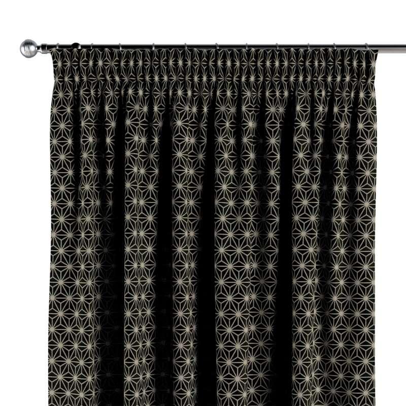 Gardin med rynkebånd 1 stk. fra kollektionen Black & White, Stof: 142-56