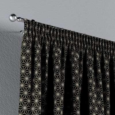 Verho rypytysnauhalla mallistosta Black & White, Kangas: 142-56