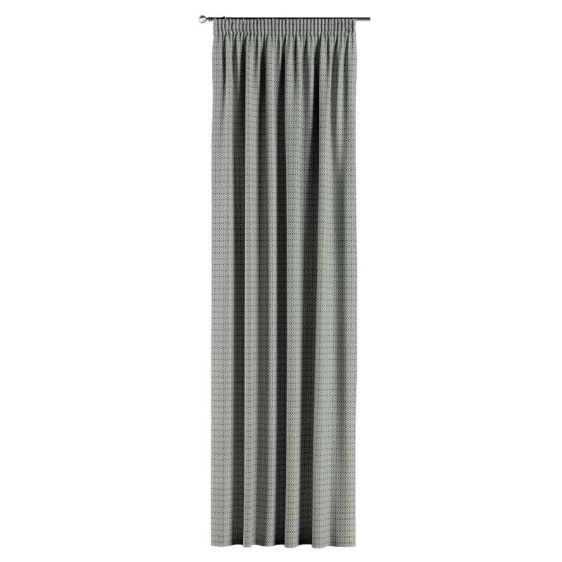 Vorhang mit Kräuselband von der Kollektion Black & White, Stoff: 142-76