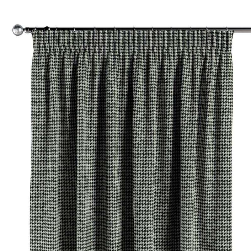 Gardin med rynkebånd 1 stk. fra kollektionen Black & White, Stof: 142-77