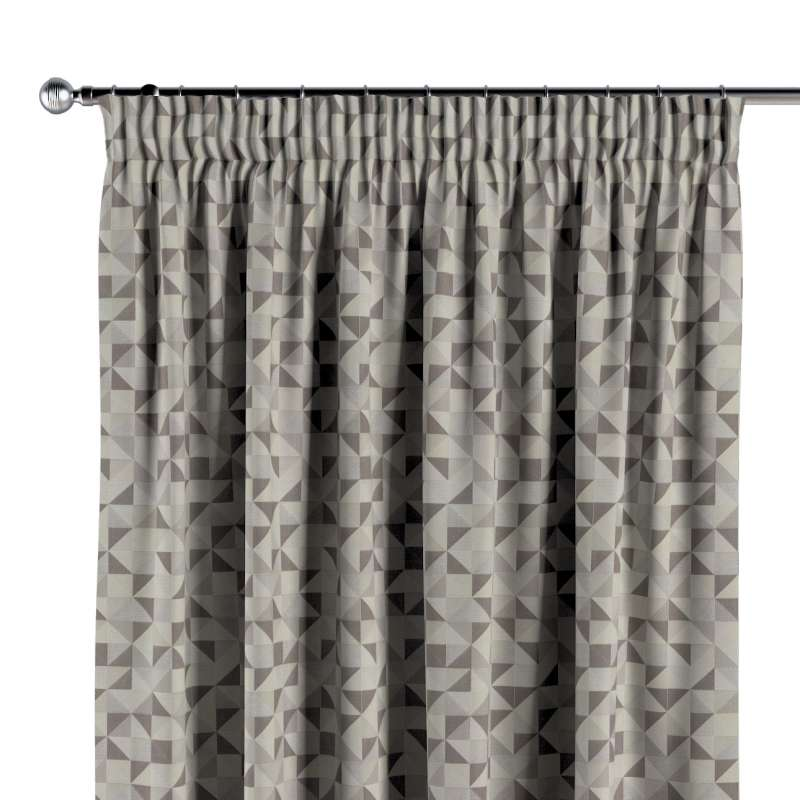 Pencil pleat curtains in collection Retro Glam, fabric: 142-85