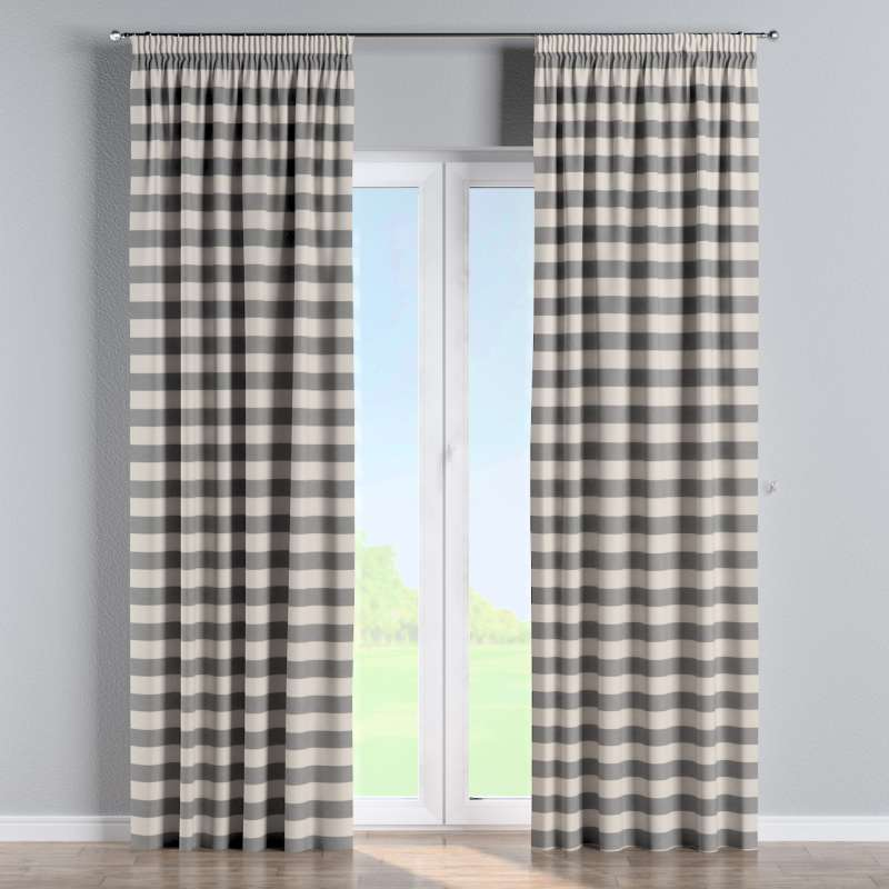 Pencil pleat curtains in collection Quadro, fabric: 142-71