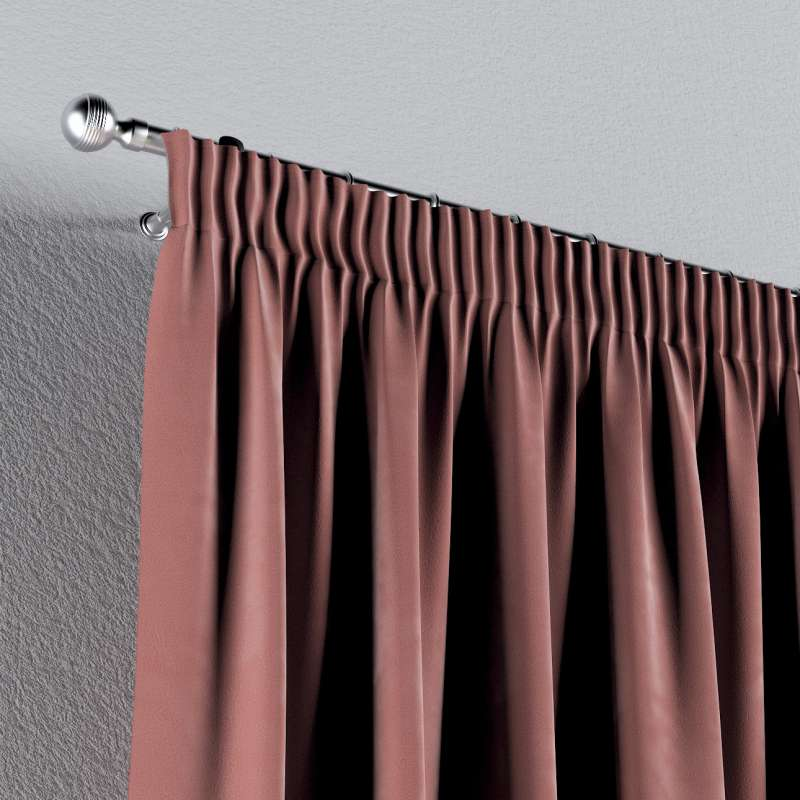 Pencil pleat curtains in collection Velvet, fabric: 704-30