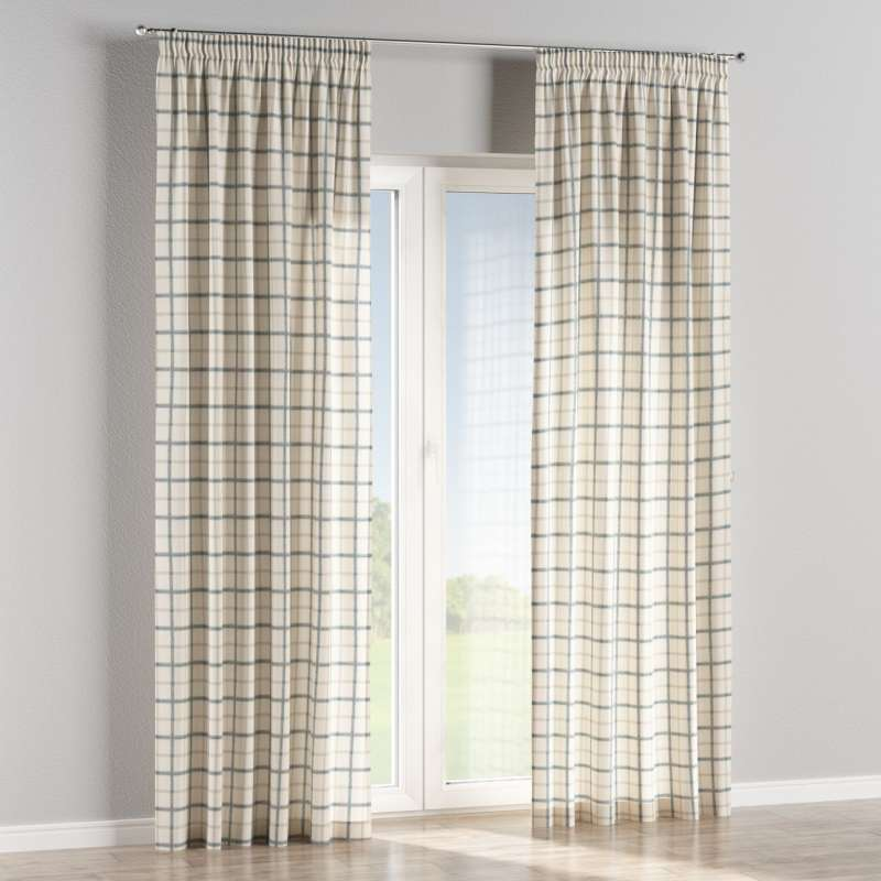 Pencil pleat curtains in collection Avinon, fabric: 131-66
