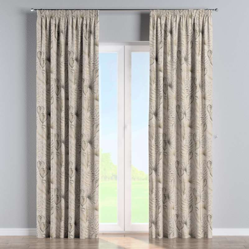Pencil pleat curtains in collection Nordic, fabric: 142-93