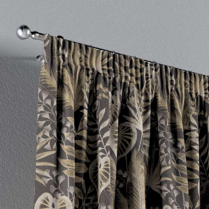 Pencil pleat curtains in collection Nordic, fabric: 142-94