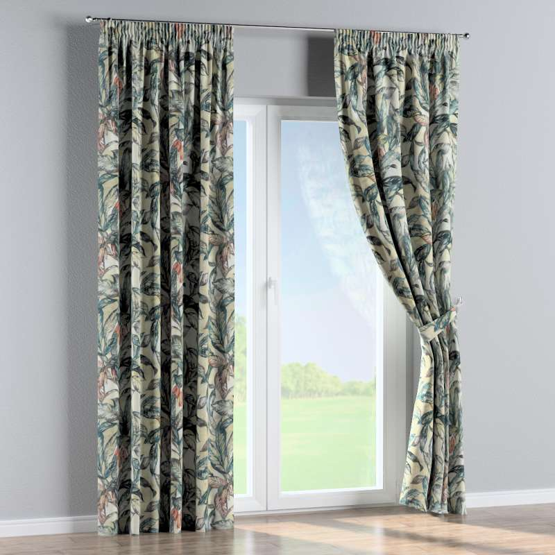 Pencil pleat curtains in collection Abigail, fabric: 143-08