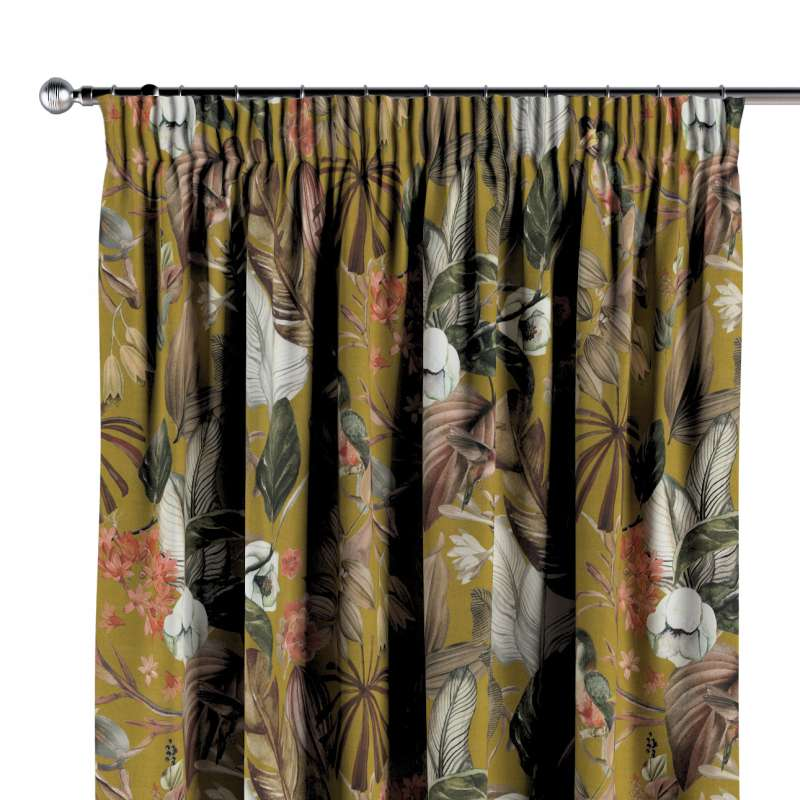 Pencil pleat curtains in collection Abigail, fabric: 143-09
