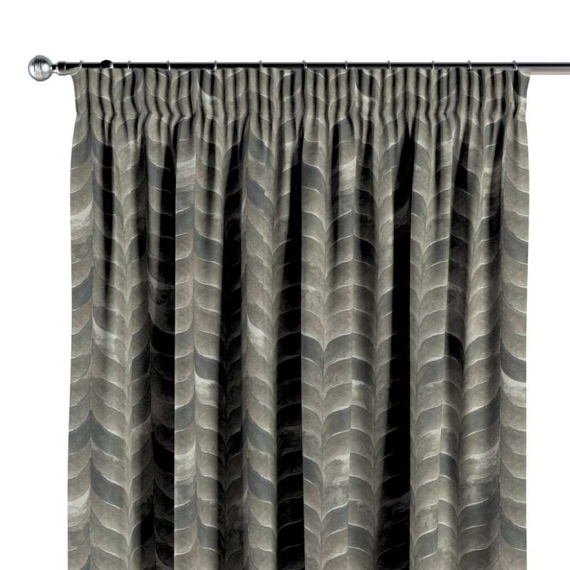 Pencil pleat curtains in collection Abigail, fabric: 143-12