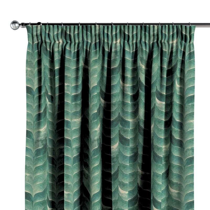 Függöny ráncolóval a kollekcióból Abigail, Dekoranyag: 143-16
