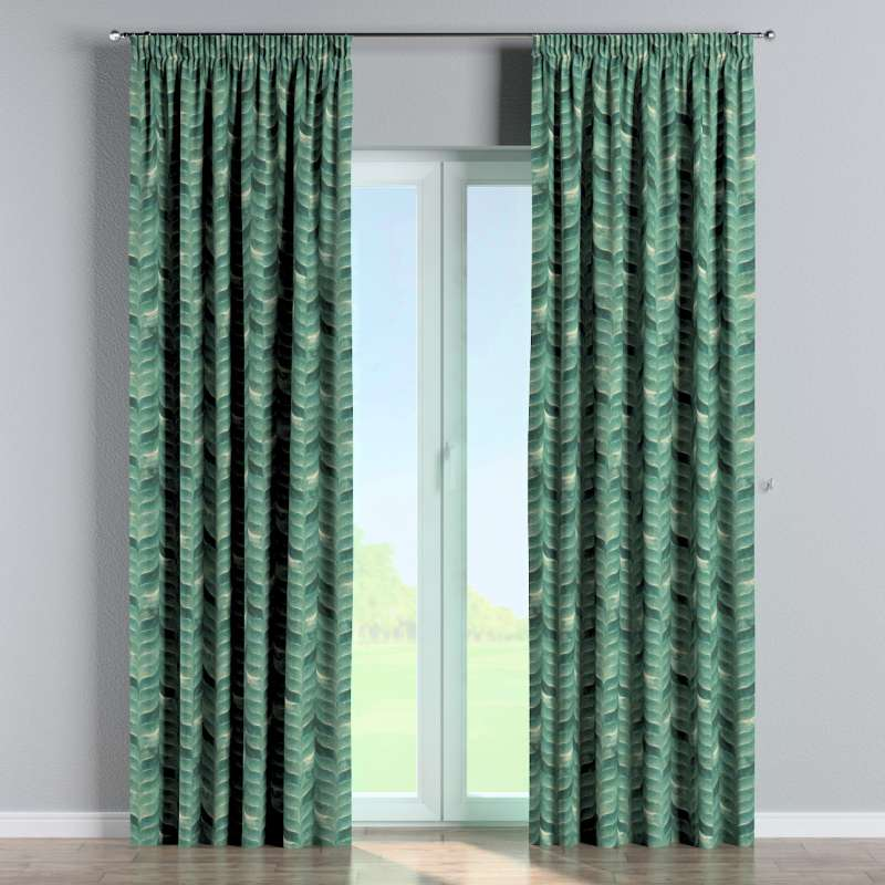 Pencil pleat curtains in collection Abigail, fabric: 143-16
