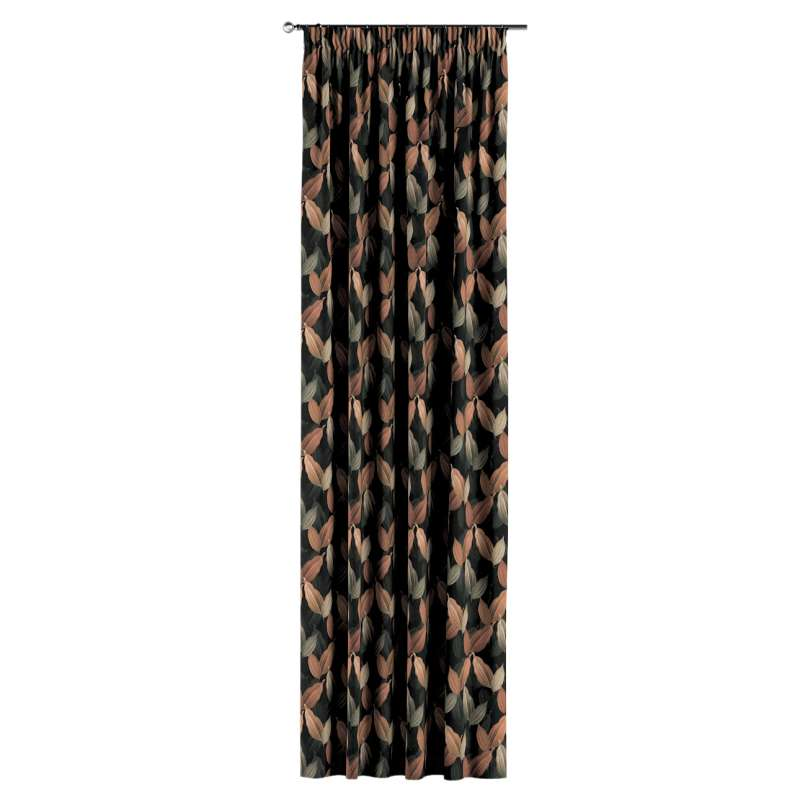Pencil pleat curtains in collection Abigail, fabric: 143-21
