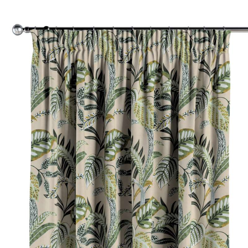 Pencil pleat curtains in collection Nordic, fabric: 142-96
