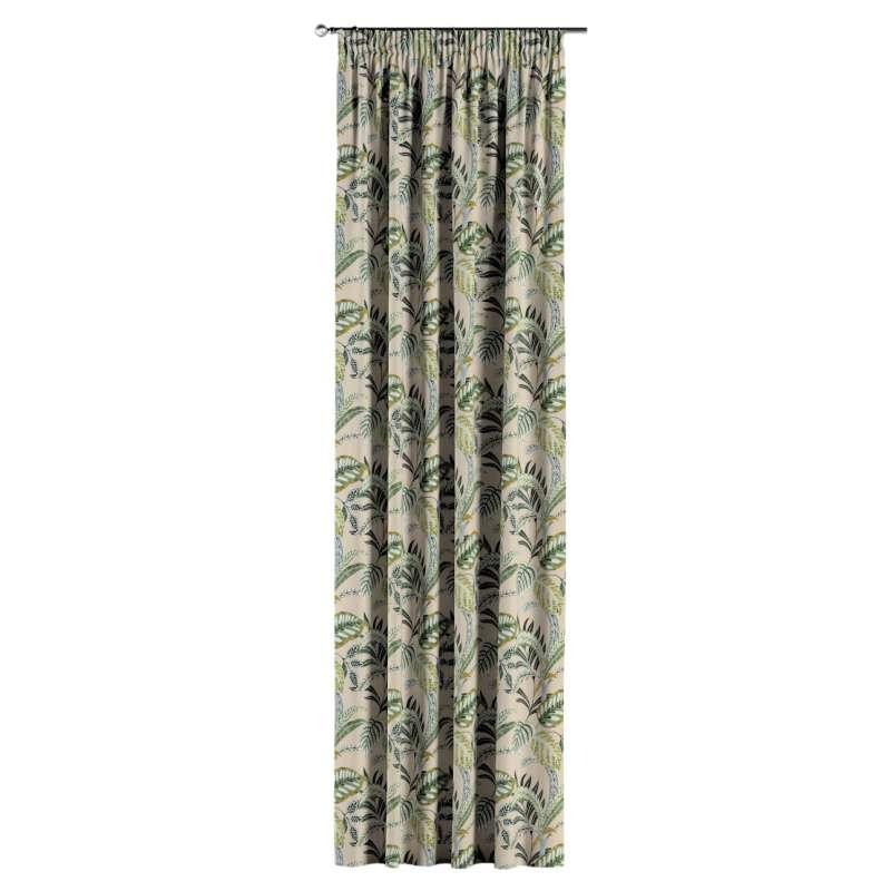 Vorhang mit Kräuselband von der Kollektion Nordic, Stoff: 142-96